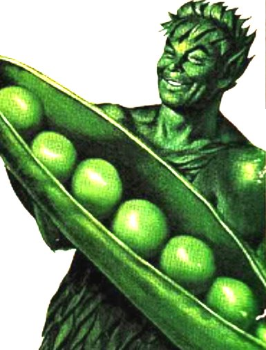The Jolly Green Giant logo.